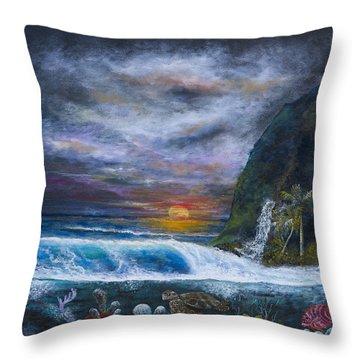 Sunset Reef Throw Pillow by John Garland  Tyson