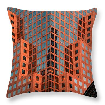 Sunset Reflection Throw Pillow by Yue Wang