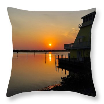 Sunset Reflections Throw Pillow by Jim Brage