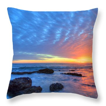 Sunset Reflections Newport Beach Throw Pillow