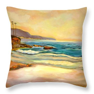 Sunset Throw Pillow by Renuka Pillai