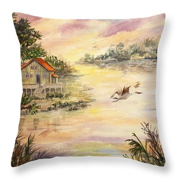 Sunset Retreat Throw Pillow by Roxanne Tobaison