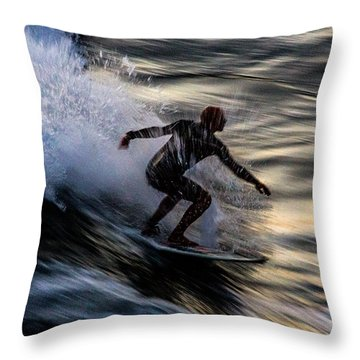 Sunset Ride 2 Throw Pillow by John Daly