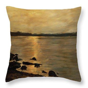 Sunset River Potomac River Washington Dc Maryland Throw Pillow