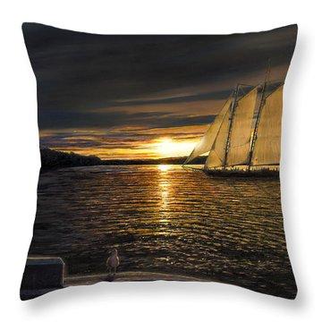Sunset Sails Throw Pillow