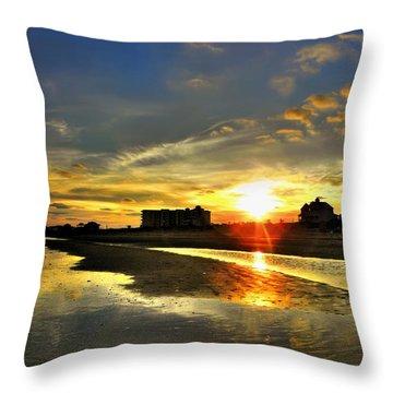 Throw Pillow featuring the photograph Sunset by Savannah Gibbs