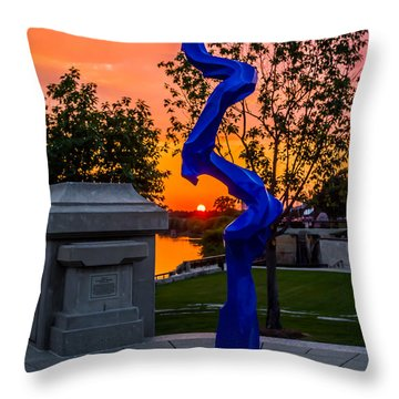 Sunset Sculpture Throw Pillow
