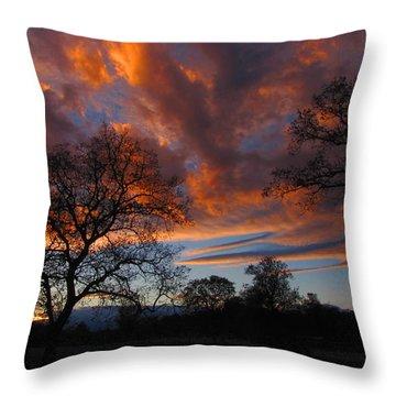 Sunset September 24 2013 Throw Pillow by Joyce Dickens