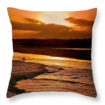 Sunset Serenade Throw Pillow by Wallaroo Images