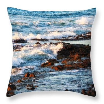 Sunset Shore Throw Pillow