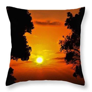 Sunset Silhouette By Diana Sainz Throw Pillow by Diana Sainz