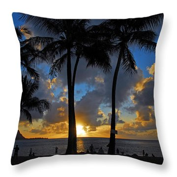 Throw Pillow featuring the photograph Sunset Silhouettes by Lynn Bauer