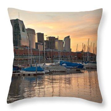 Buenos Aires Sunset Throw Pillow by Silvia Bruno