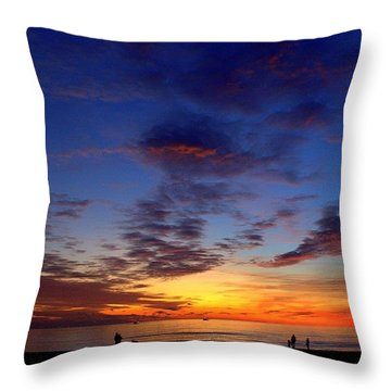 Sunset Throw Pillow by Mariana Mincu