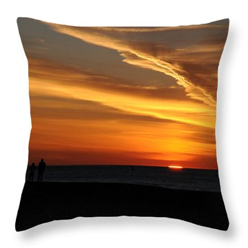 Sunset Sliver Throw Pillow