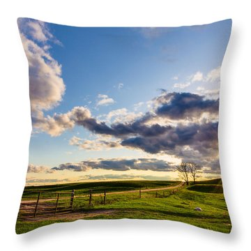 Sunset Sonata Throw Pillow