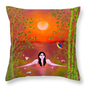 Sunset Songs Throw Pillow by Latha Gokuldas Panicker