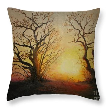 Sunset Throw Pillow by Sorin Apostolescu