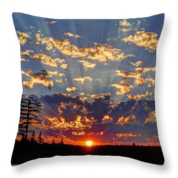 Sunset Spectacle Throw Pillow
