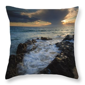 Sunset Spillway Throw Pillow by Mike  Dawson