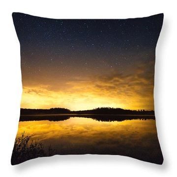 Sunset Star Landscape Throw Pillow