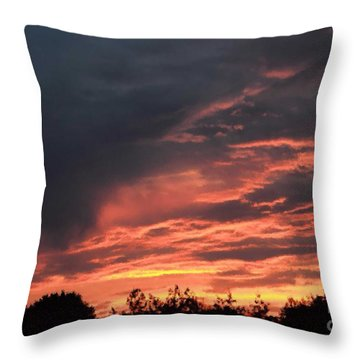 Throw Pillow featuring the photograph Sunset Streaks by Luther Fine Art