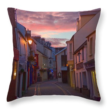 Sunset Street Throw Pillow