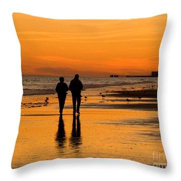 Sunset Stroll Throw Pillow