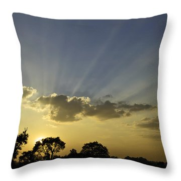 Sunset Sunrays Throw Pillow