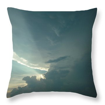 Throw Pillow featuring the photograph Sunset Supercell by Ed Sweeney