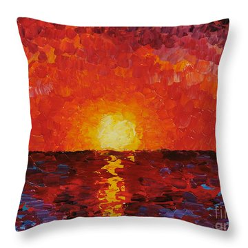 Sunset Throw Pillow by Teresa Wegrzyn