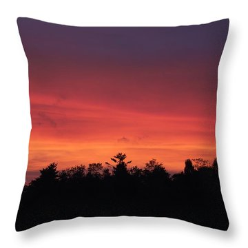 Sunset Tones Throw Pillow