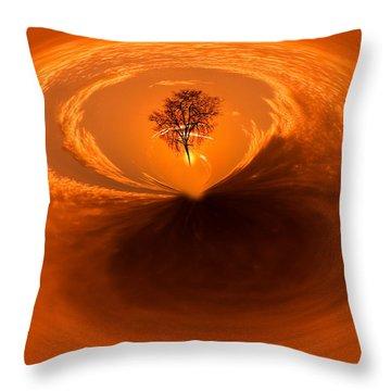 Sunset Tree Artwork Throw Pillow