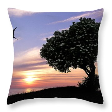 Sunset Tree Of Tranquility Throw Pillow