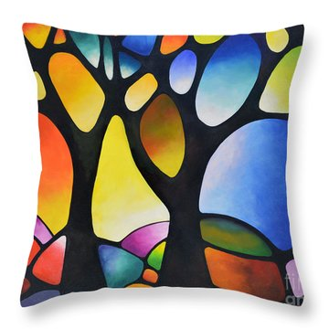 Sunset Trees Throw Pillow