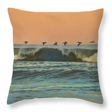 Throw Pillow featuring the photograph Sunset Trek by Linda Olsen