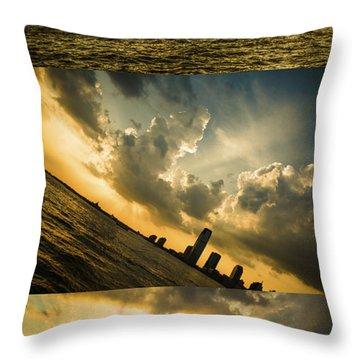 Sunset Trilogy Throw Pillow