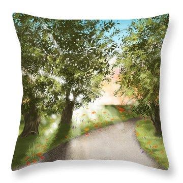 Sunset Throw Pillow by Veronica Minozzi