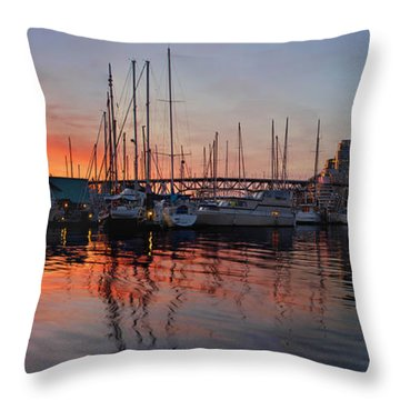 Throw Pillow featuring the photograph Sunset View From Charleson Park In Vancouver Bc by JPLDesigns