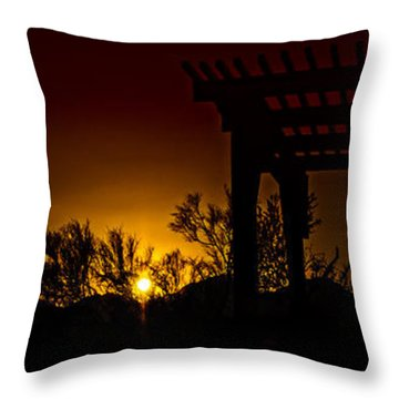 Sunset Vista Throw Pillow