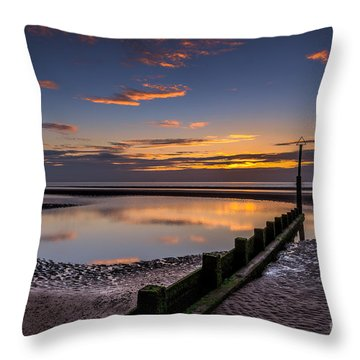 Sunset Wales Throw Pillow by Adrian Evans