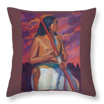 Sunset Warrior Throw Pillow