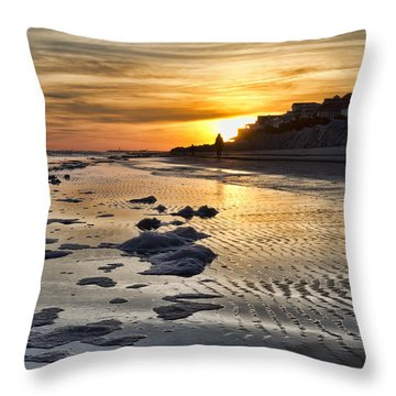 Sunset Wild Dunes Beach South Carolina Throw Pillow