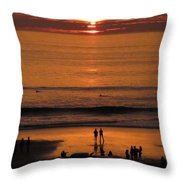 Sunset Worship Throw Pillow by Charles Ables