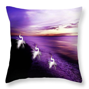 Sunset Worshippers Throw Pillow