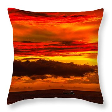 Sunset Wow2 Throw Pillow