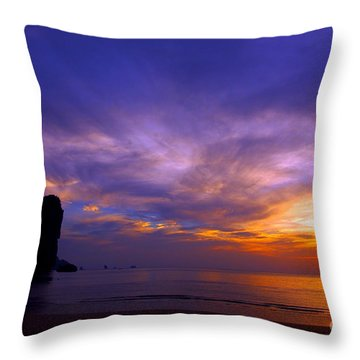 Sunsets And Beaches Throw Pillow by Kaleidoscopik Photography