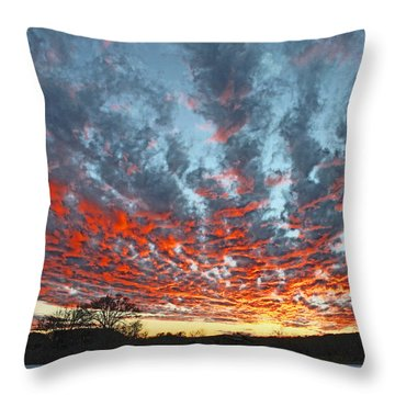 Sunset Colorado Country Style Throw Pillow