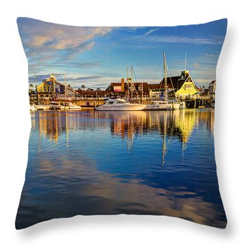Sunset's Golden Light Throw Pillow by Heidi Smith