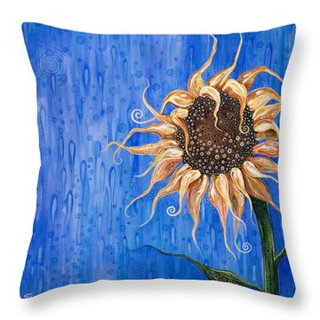 Sunshine After The Rain Throw Pillow by Tanielle Childers